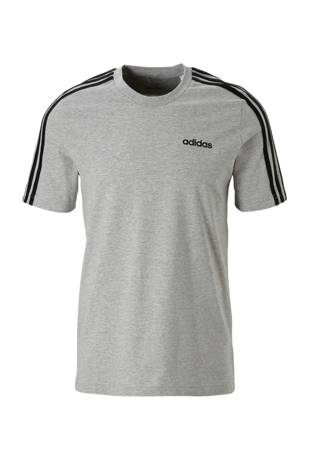 adidas   sport T-shirt, Grijs melange/zwart