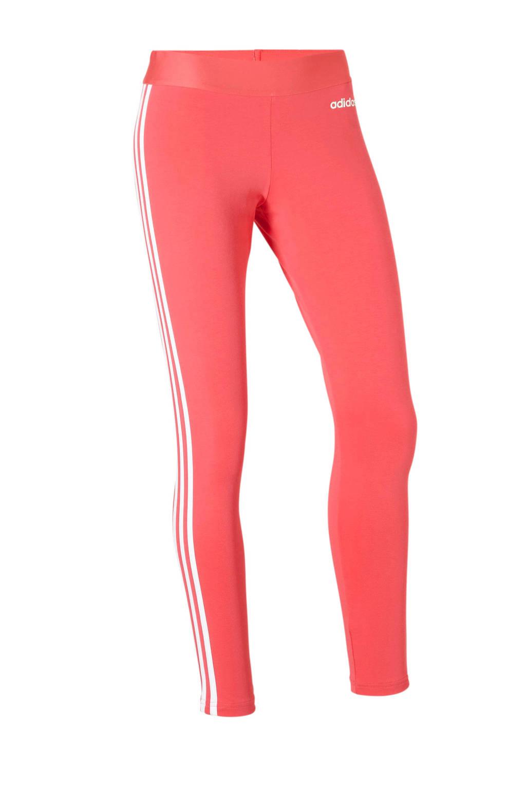 adidas performance sportbroek roze, Roze/wit