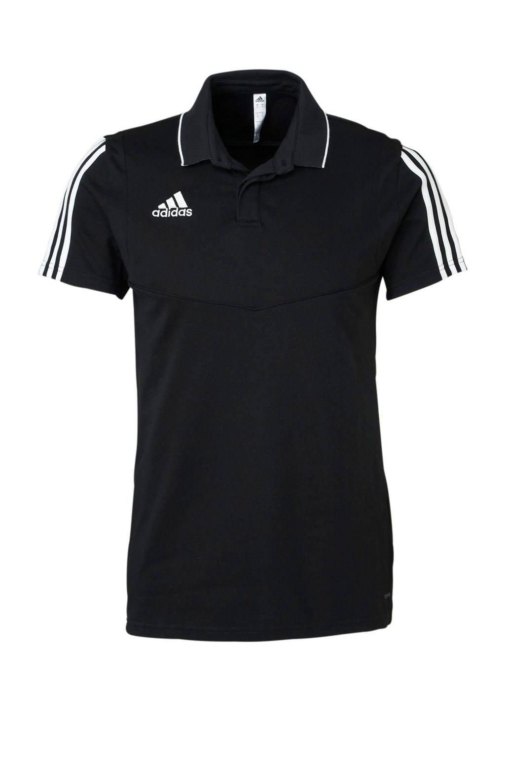 adidas Performance   sportpolo Tiro 19 zwart, Zwart