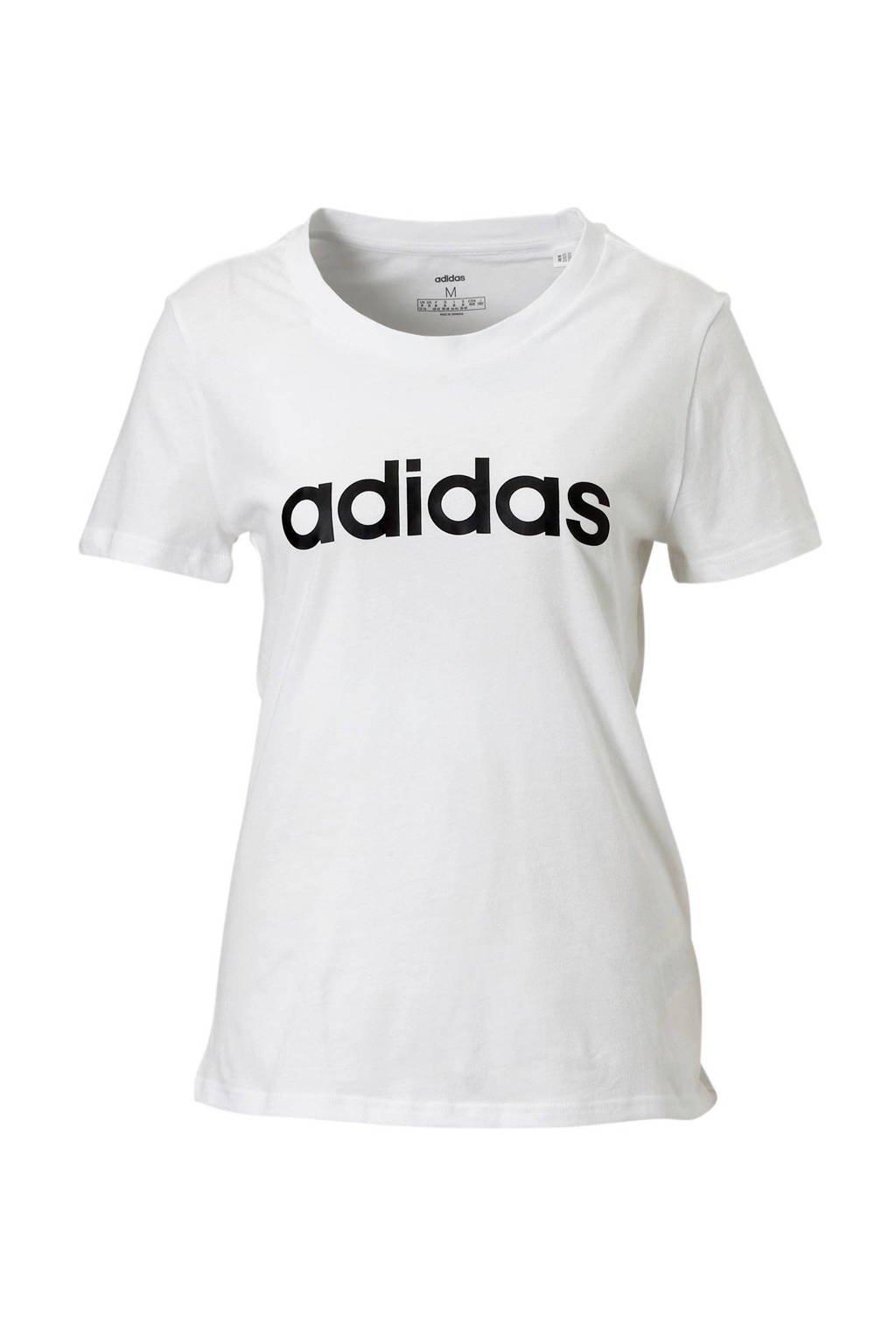 adidas Performance sport T-shirt wit/zwart, Wit/zwart
