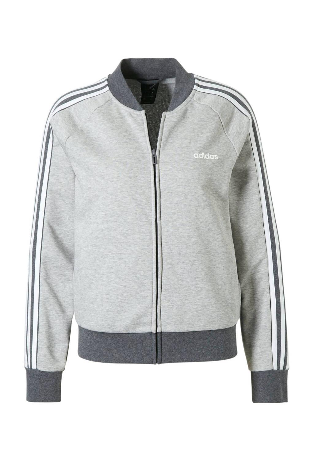 adidas performance sportvest grijs/antraciet, Grijs melange/antraciet/wit