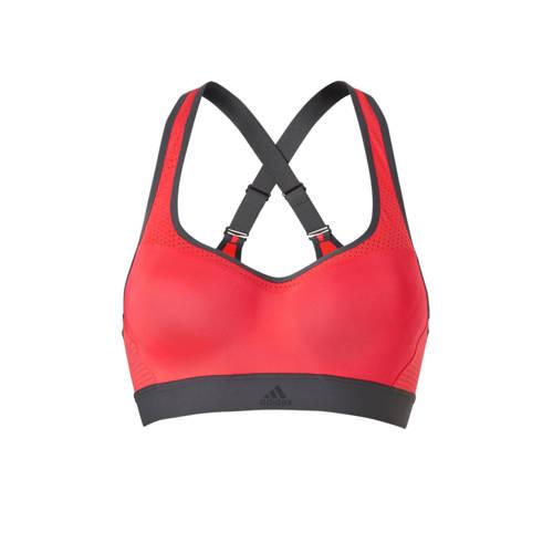 adidas performance sportbh roze-grijs