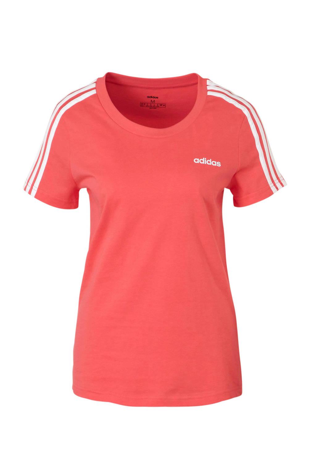 adidas performance sport T-shirt roze, Roze/wit