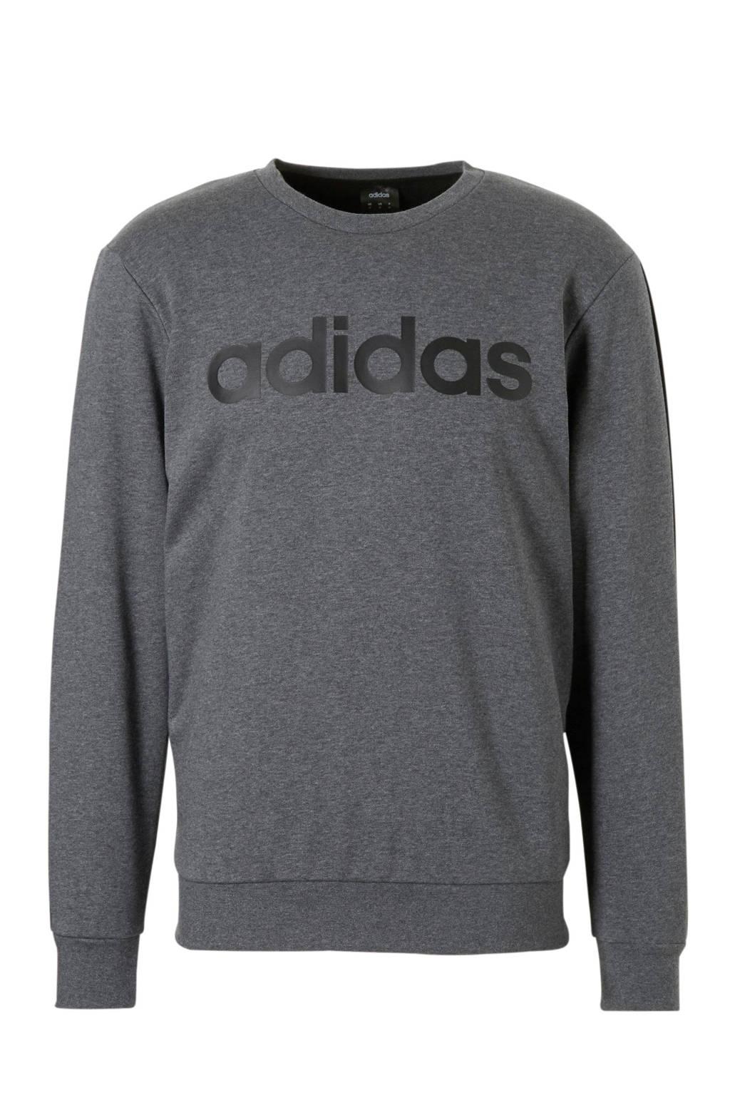 adidas performance   sportsweater grijs, Antraciet melange