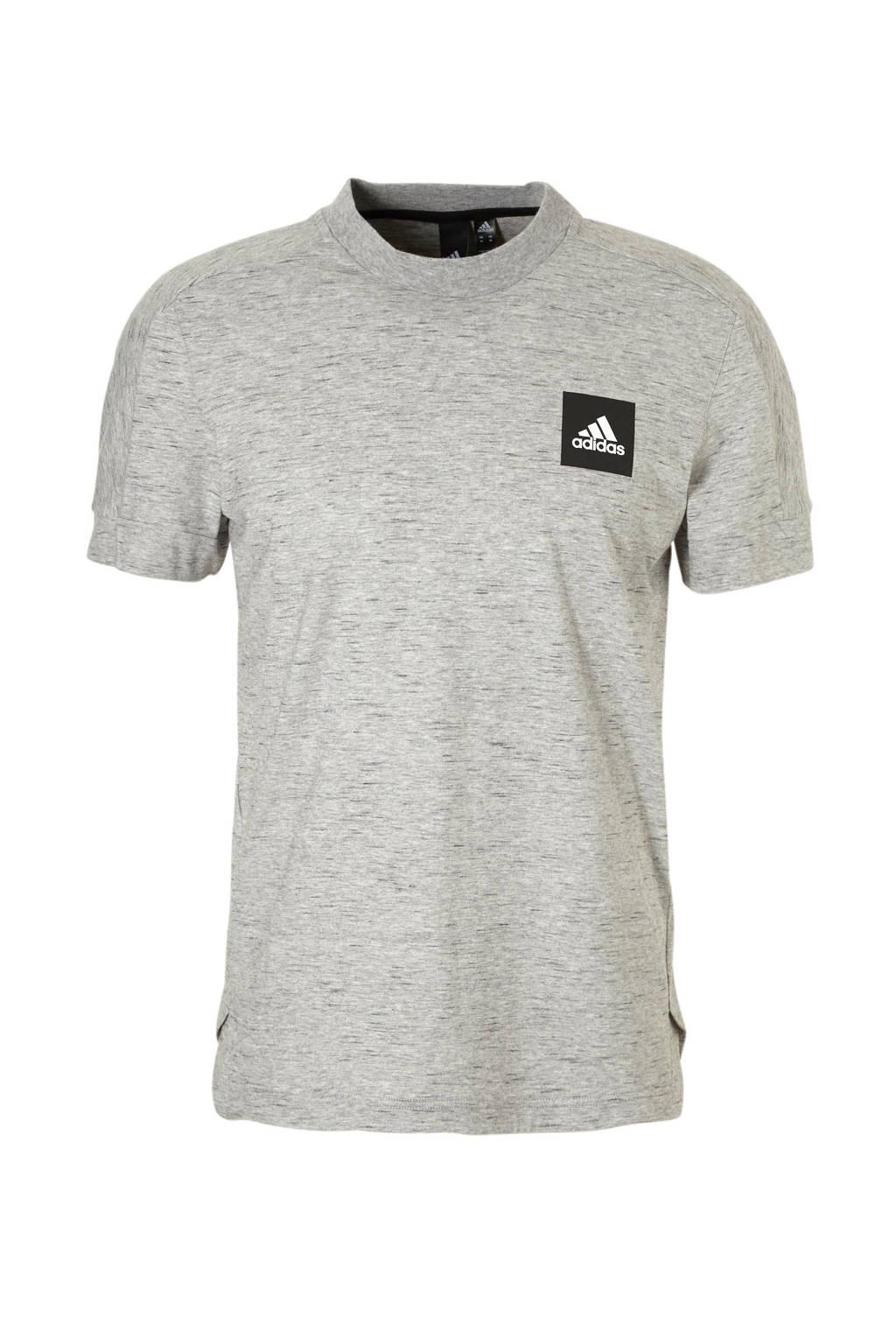 adidas performance   sport T-shirt, Grijs melange