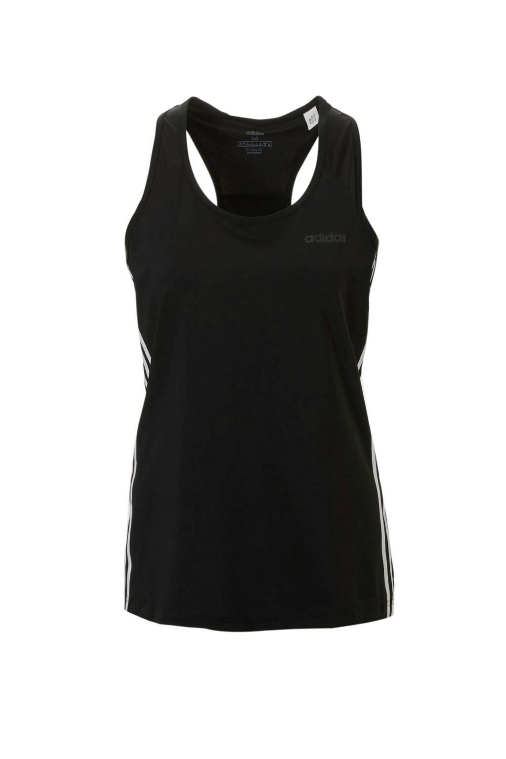 adidas Performance sporttop zwart, Zwart/wit
