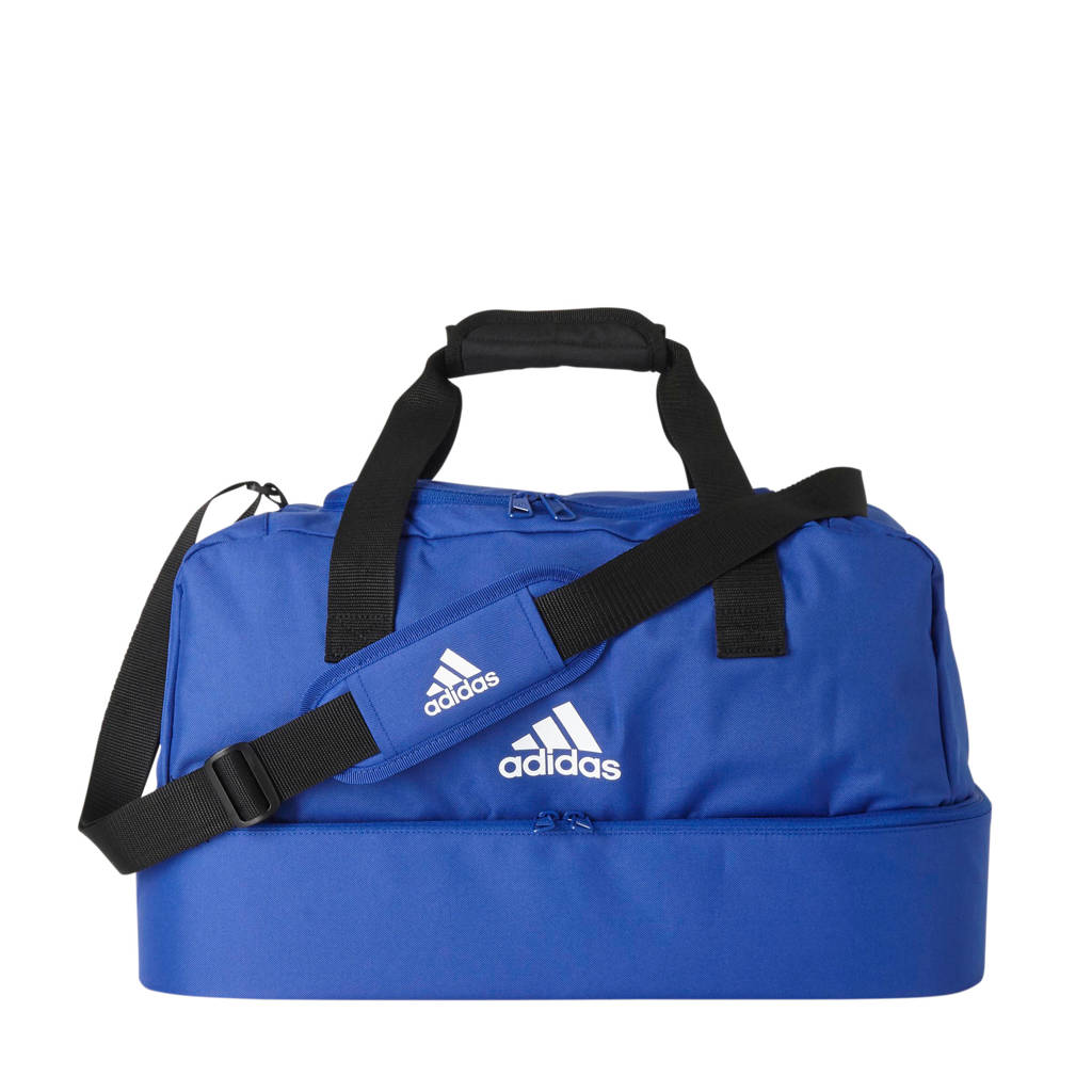 adidas Performance   sporttas Tiro S blauw, Blauw/wit/zwart