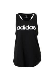 adidas Performance sporttop zwart/wit, Zwart/wit