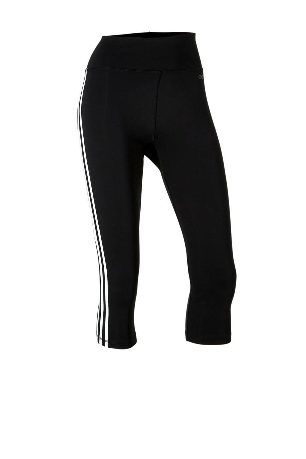 adidas Performance sportcapri zwart, Zwart/wit