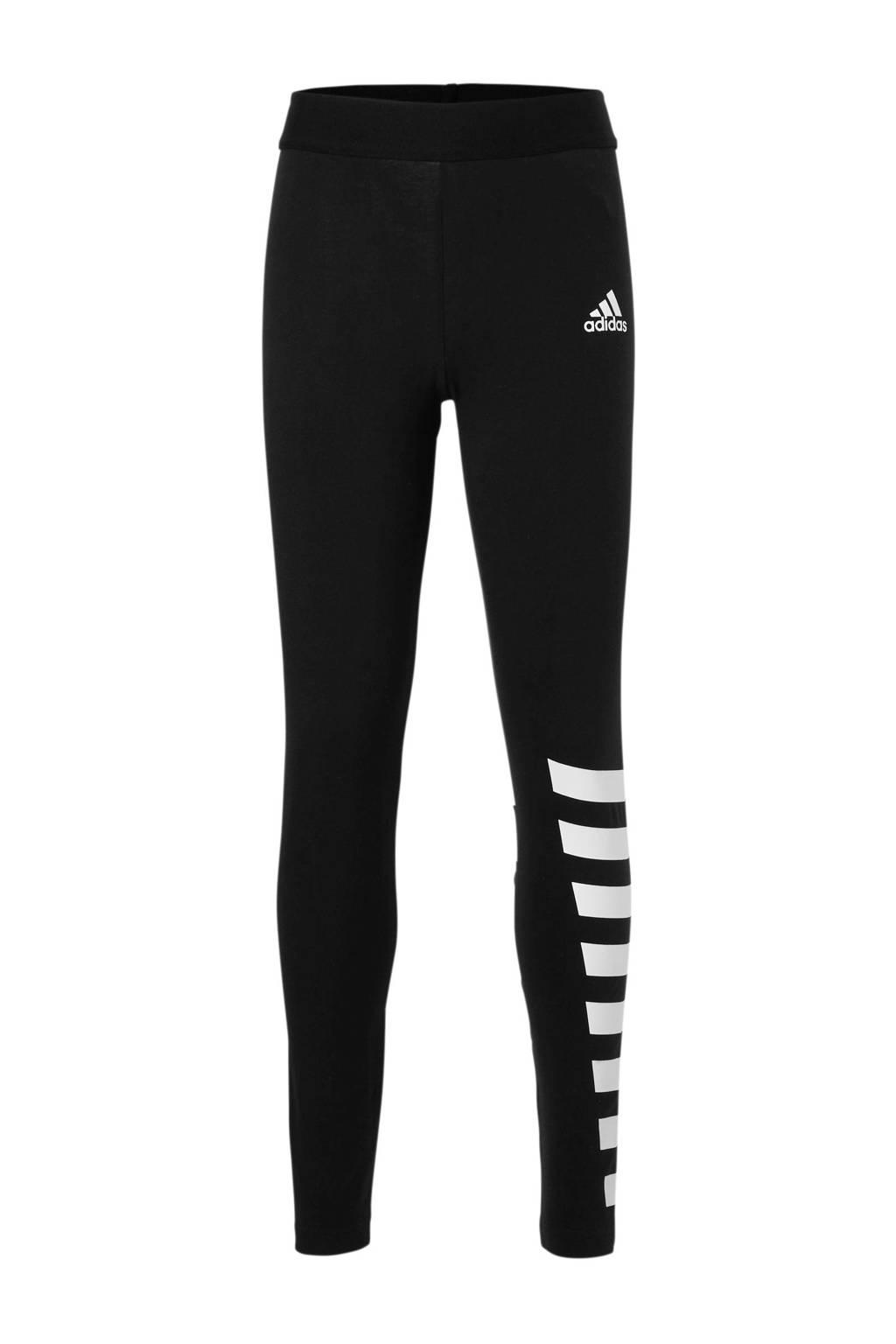 adidas performance 7/8 sportbroek zwart, Zwart/wit