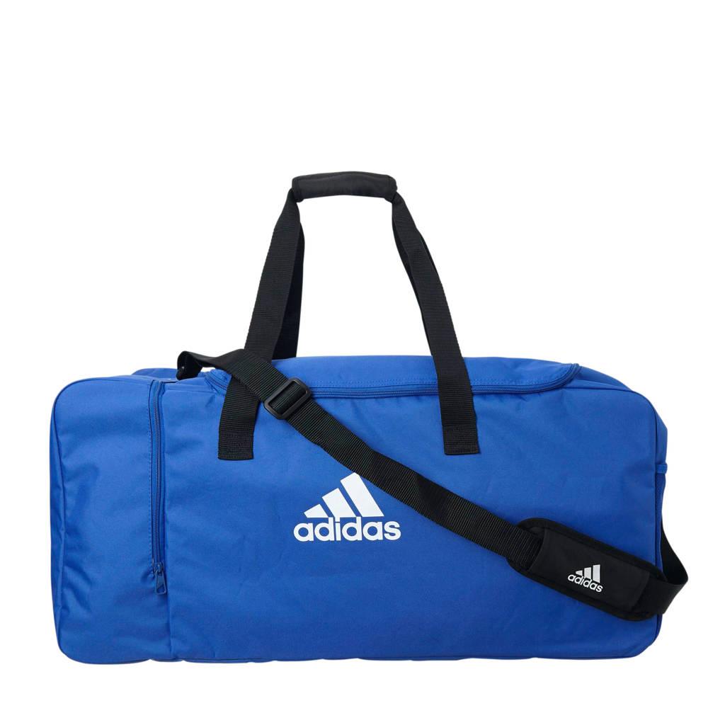 adidas performance   sporttas Tiro DU L, Blauw/wit/zwart