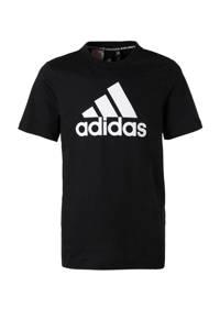 adidas Performance   sport T-shirt zwart/wit, Zwart/wit