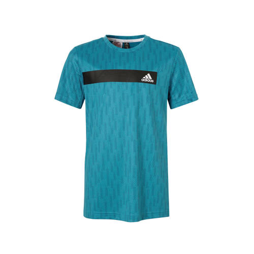 adidas performance performance sport T-shirt blauw