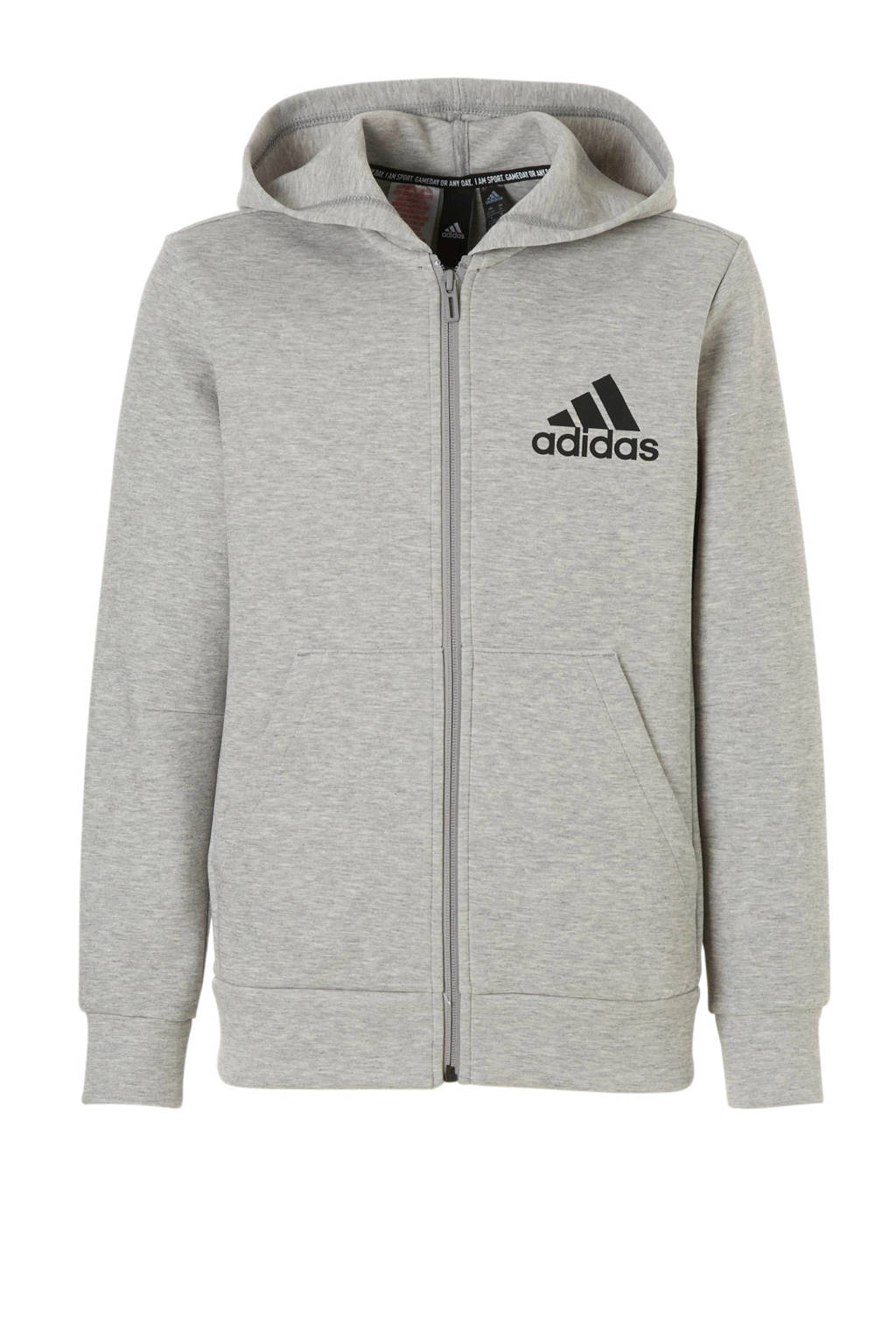 adidas performance   sportvest grijs melange, Grijs/zwart