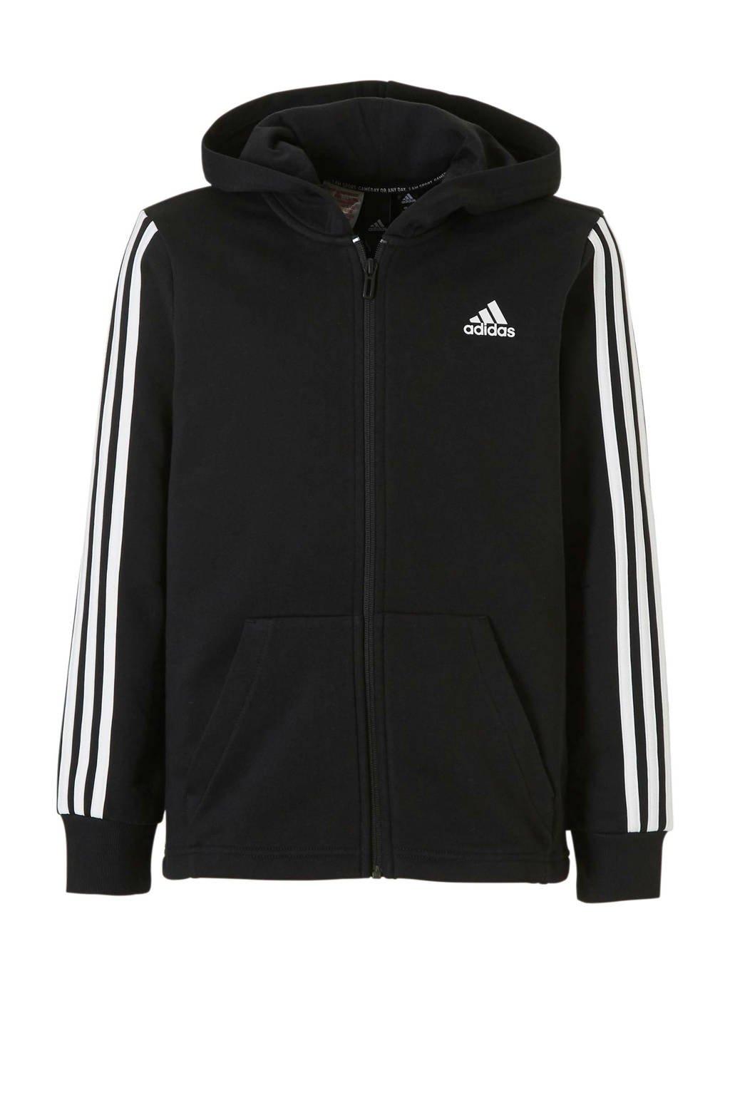 adidas performance   sportvest zwart, Zwart/wit