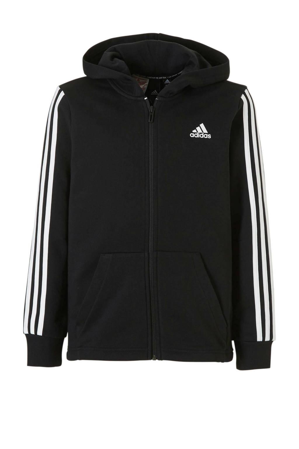 adidas   sportvest zwart, Zwart/wit