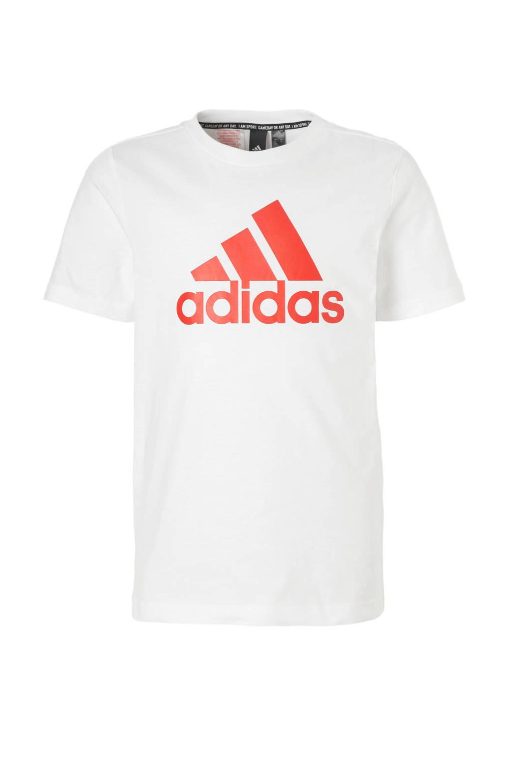 adidas performance   sport T-shirt wit, Wit/rood