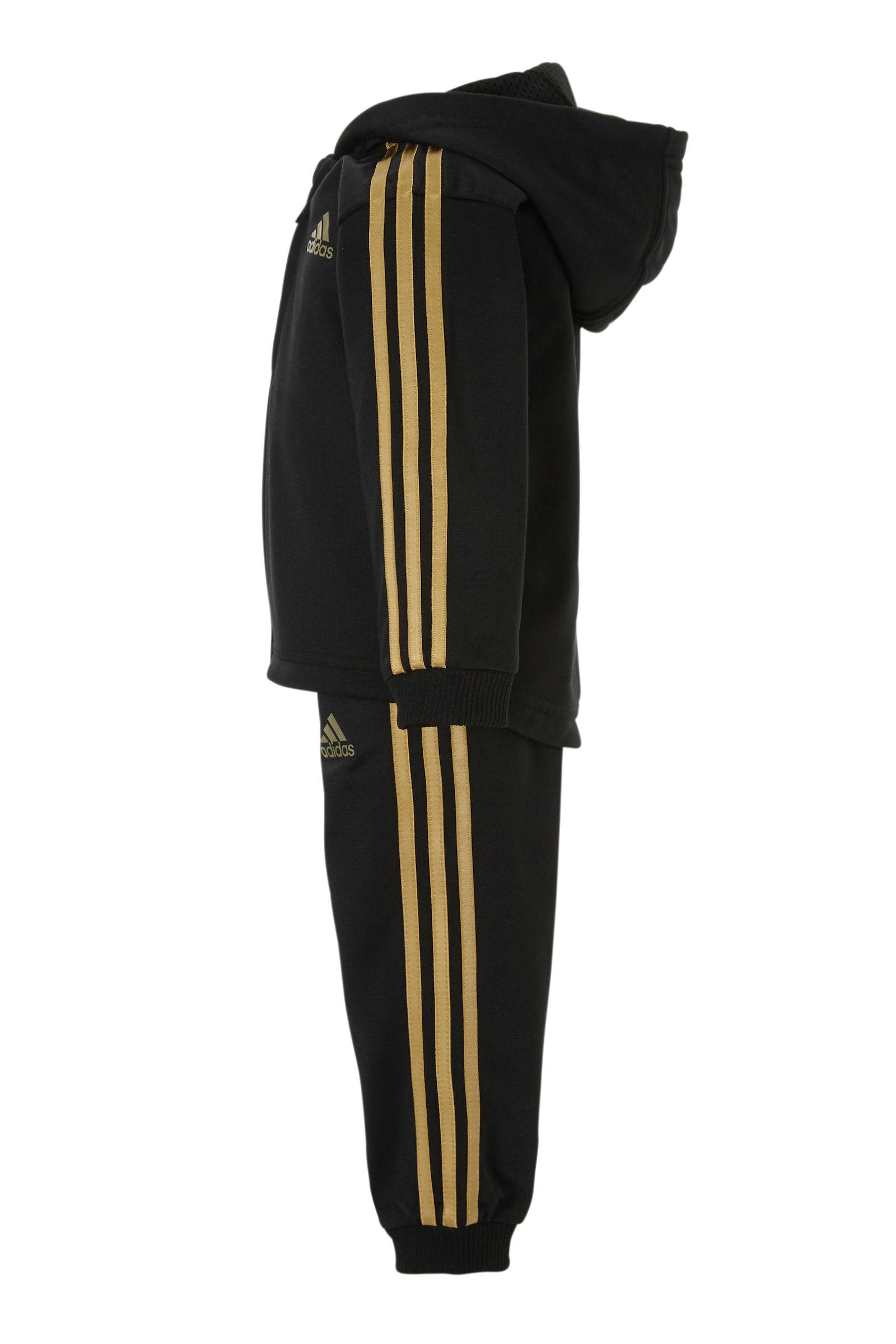 adidas trainingspak heren zwart goud