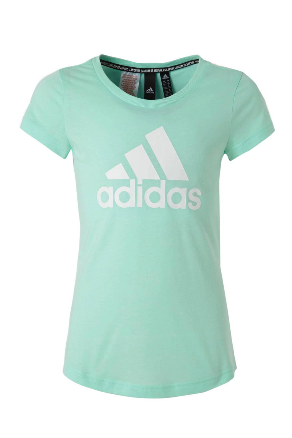 adidas performance sport T-shirt mintgroen, Mintgroen