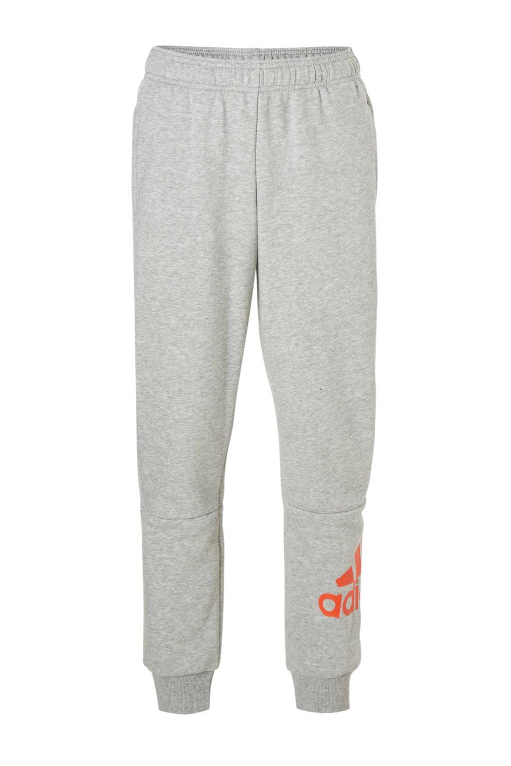 adidas performance   joggingbroek grijs, Grijs melange/rood