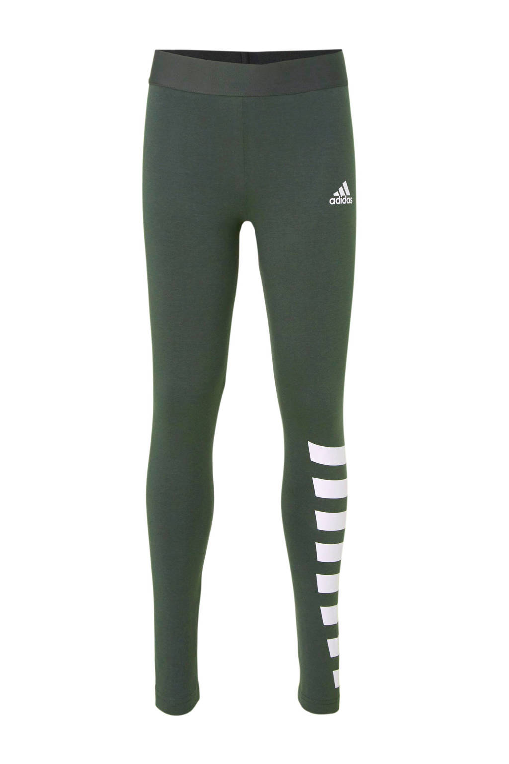 adidas performance 7/8 sportbroek antraciet, Antraciet/wit