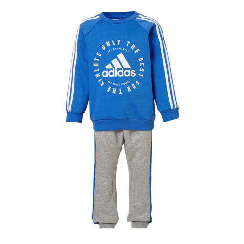 adidas performance joggingpak blauw-grijs