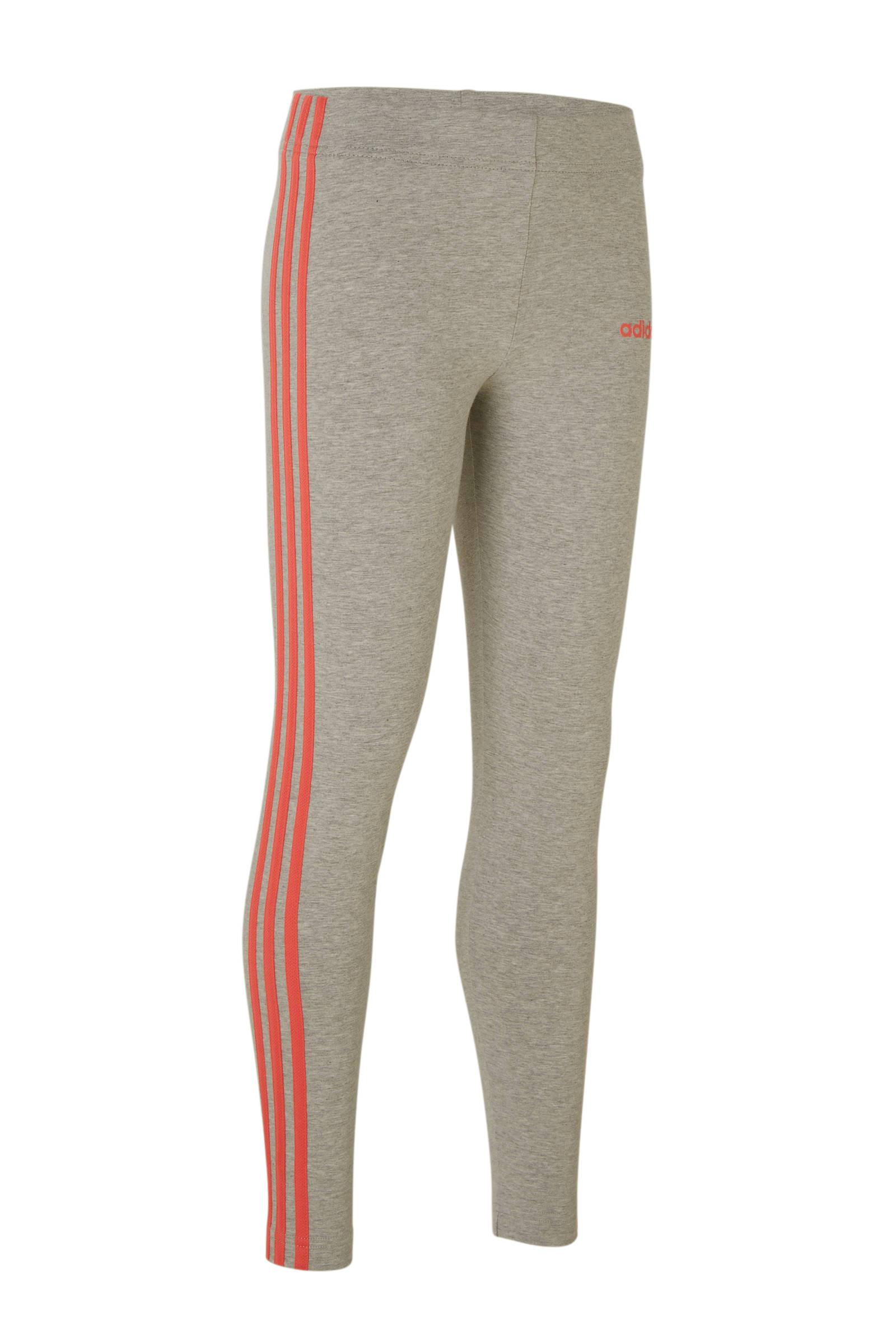 adidas performance sportbroek grijsroze | wehkamp