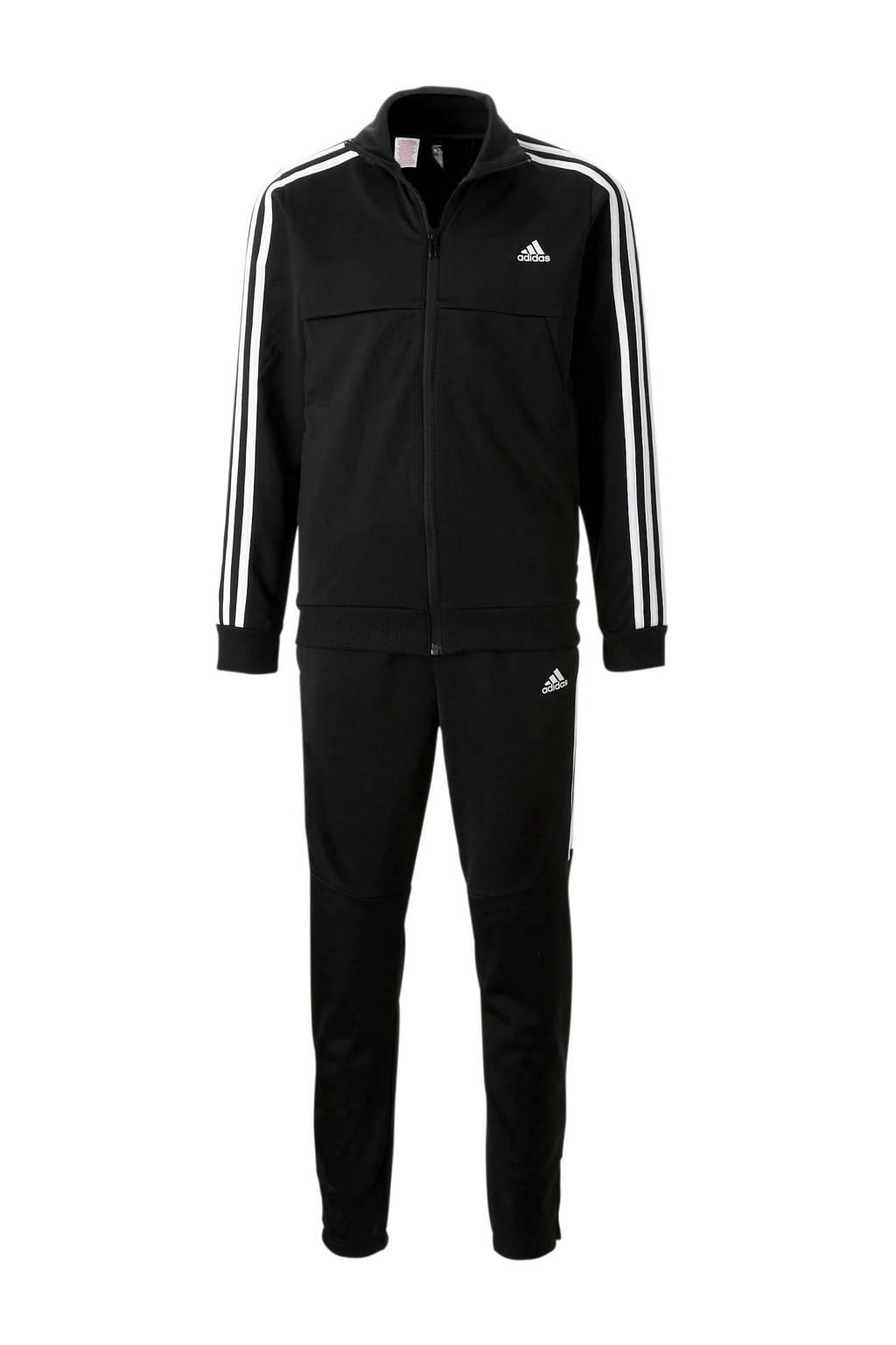 adidas   trainingspak zwart, Zwart