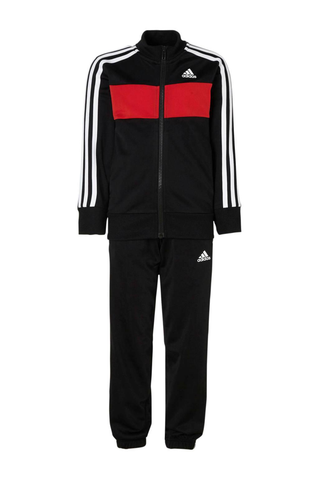 adidas performance   trainingspak, Zwart/rood/wit