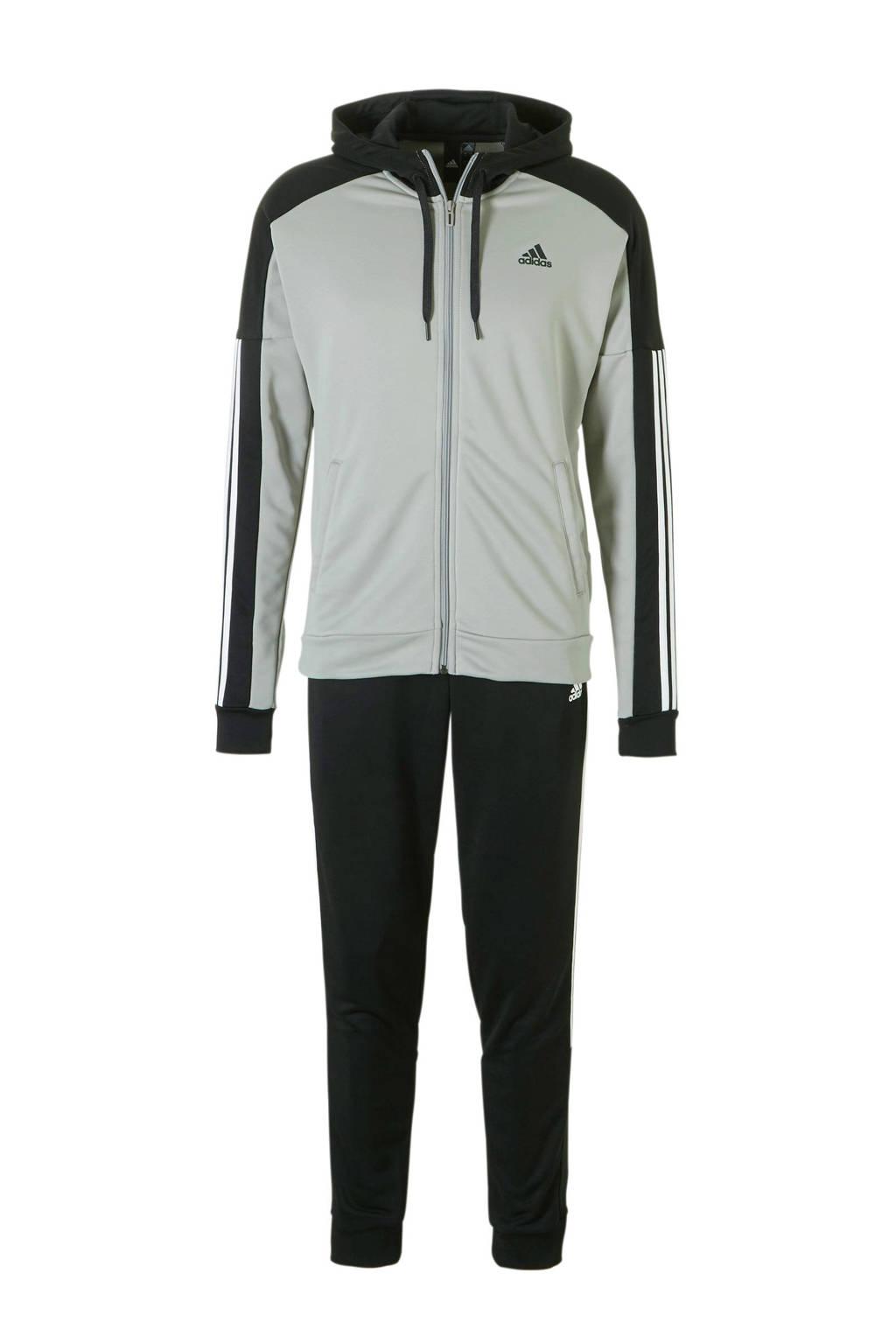 adidas performance   trainingspak zwart/grijs, Grijs/zwart/wit