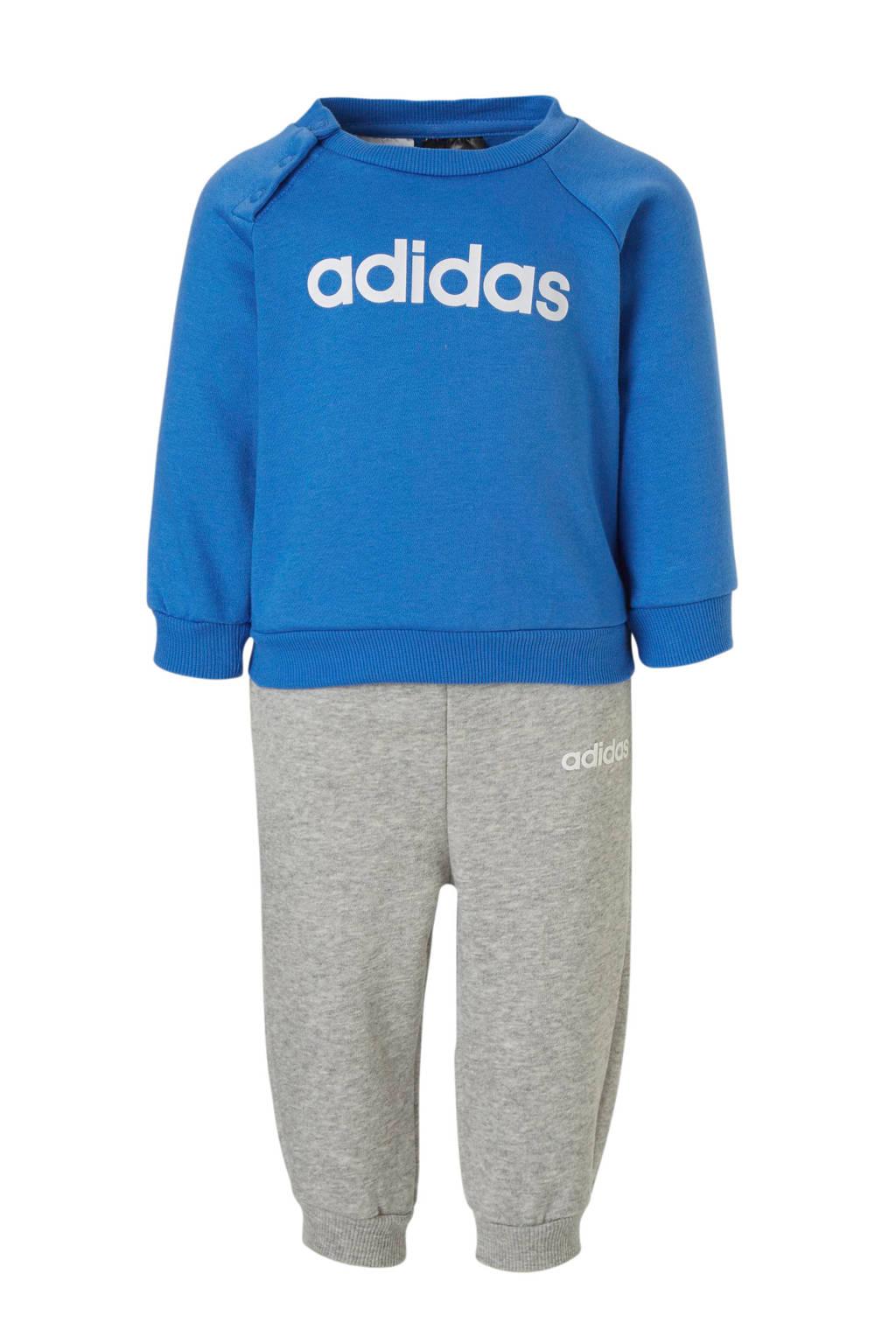 adidas performance   joggingpak blauw/grijs, Blauw/grijs