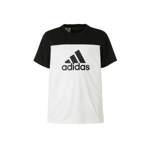 sport T-shirt wit-zwart