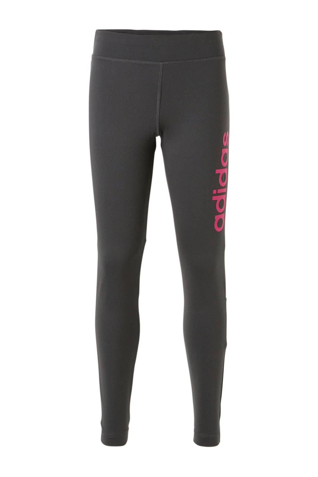 adidas performance sportbroek grijs, Antraciet/roze