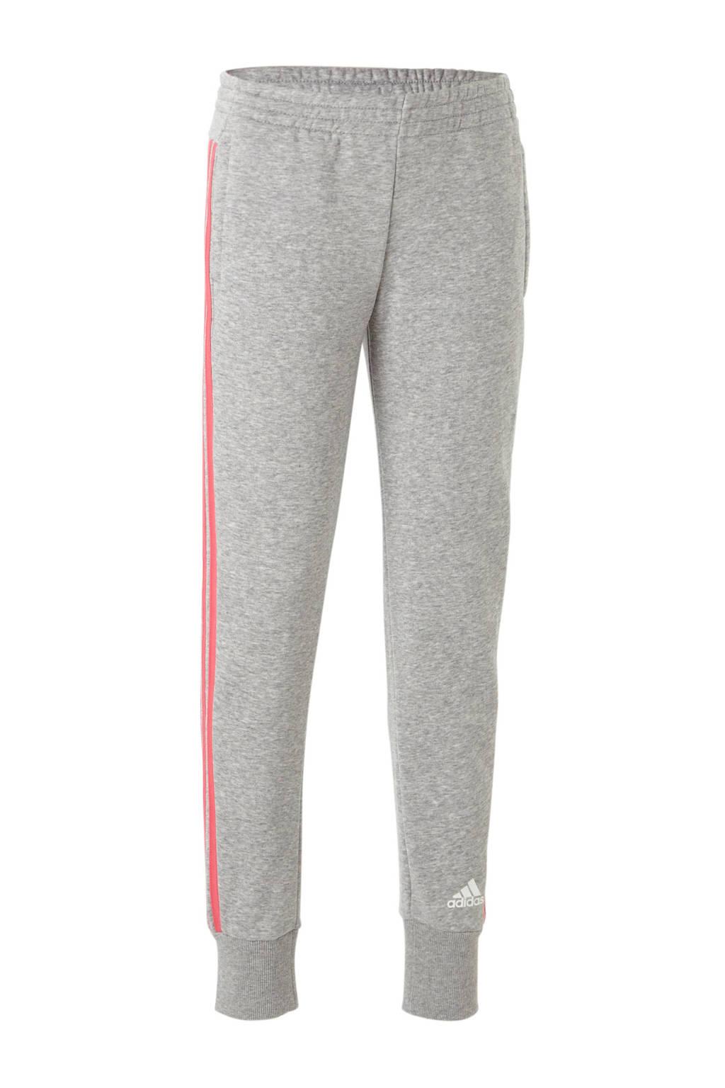 adidas performance joggingbroek, Grijs melange/roze