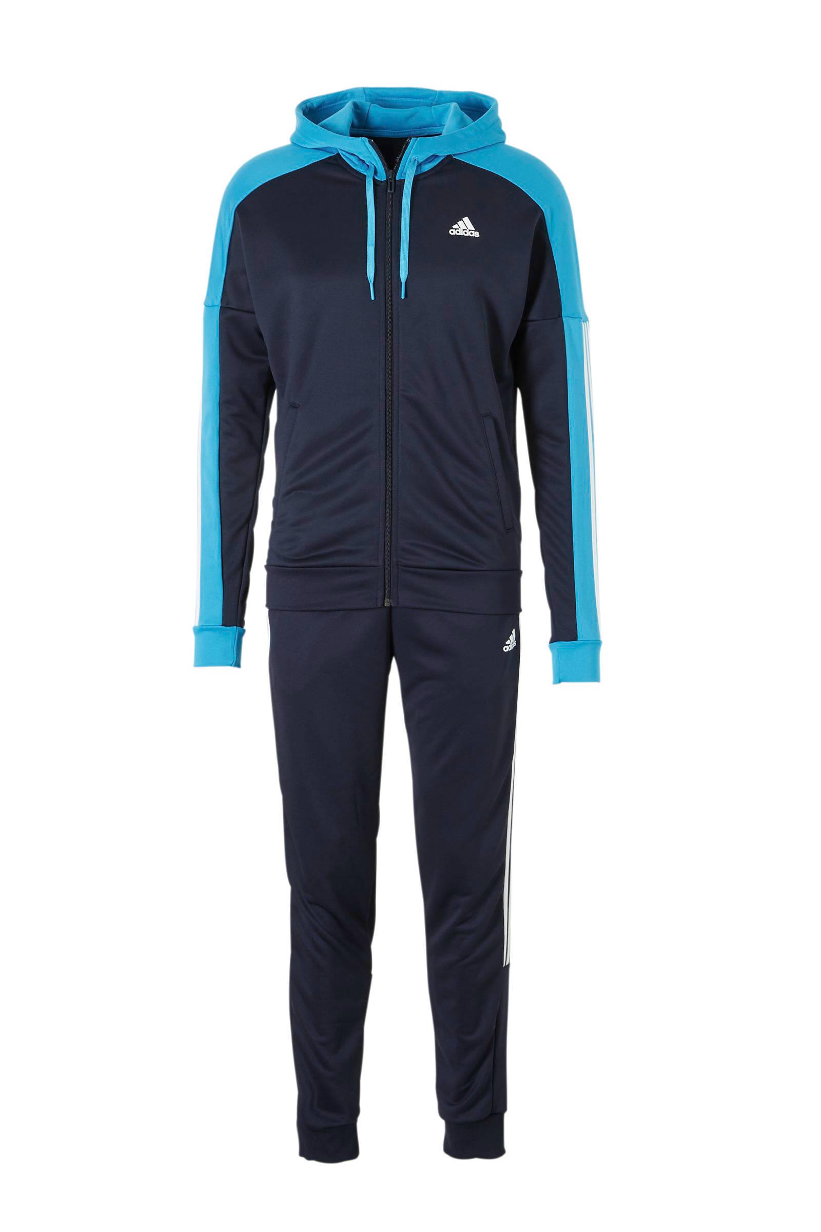 trainingspak blauw/wit