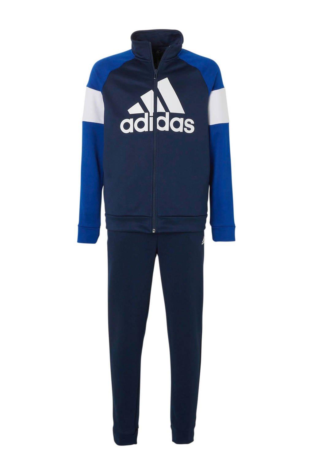 adidas performance   trainingspak blauw/wit, Blauw/wit