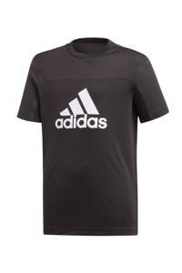 adidas   sport T-shirt zwart, Zwart/wit