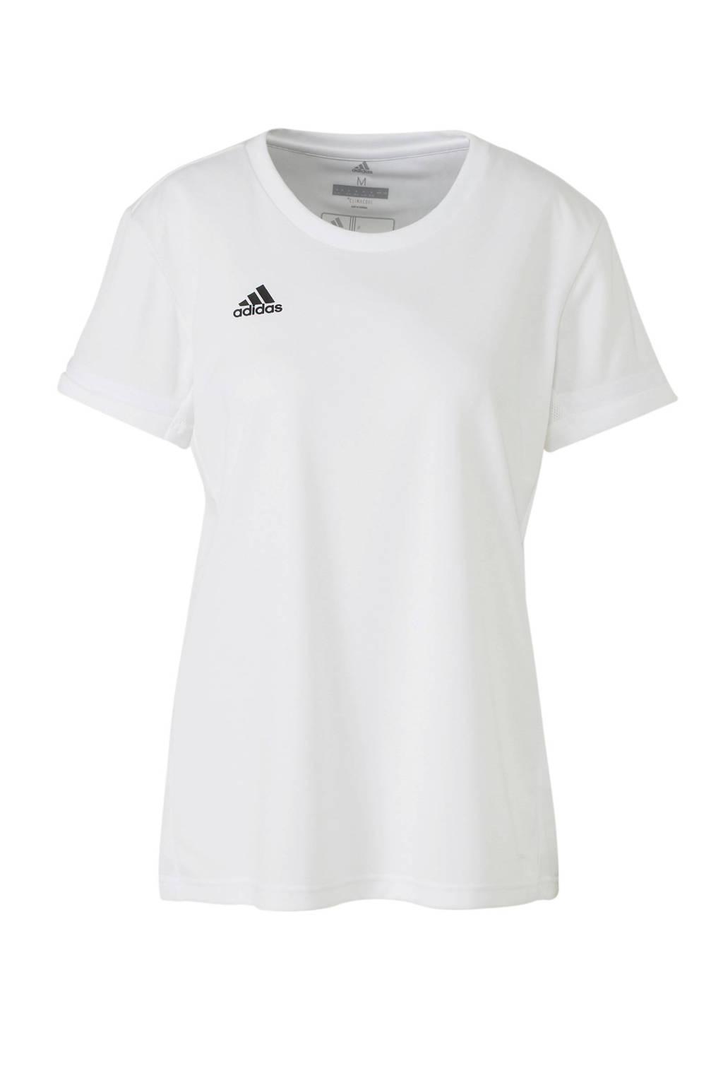 adidas Performance sport T-shirt T19 wit, Wit