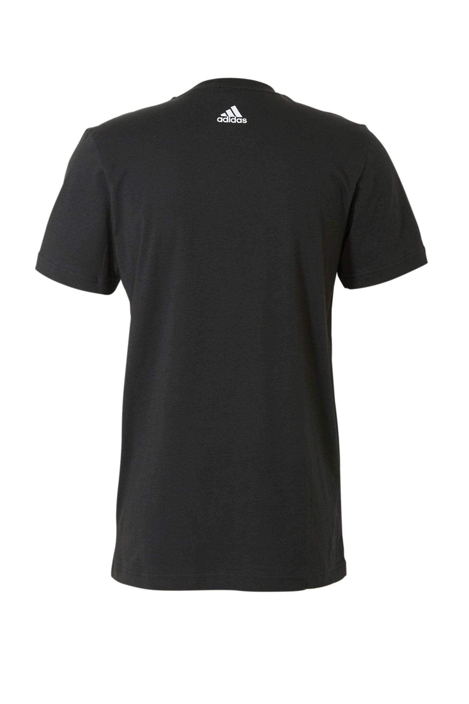 performance sport T shirt zwart
