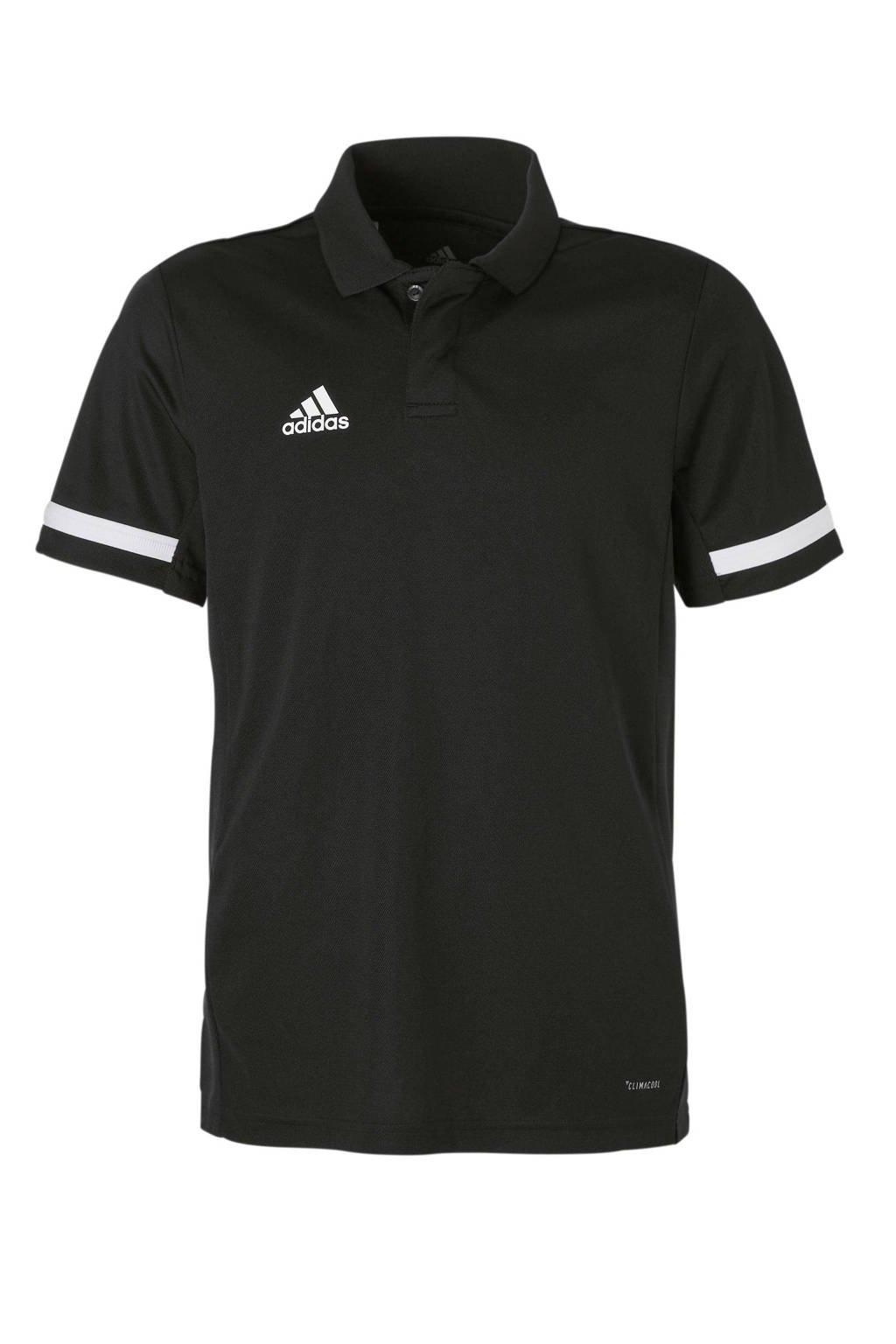 adidas performance   sportpolo T19 zwart, Zwart