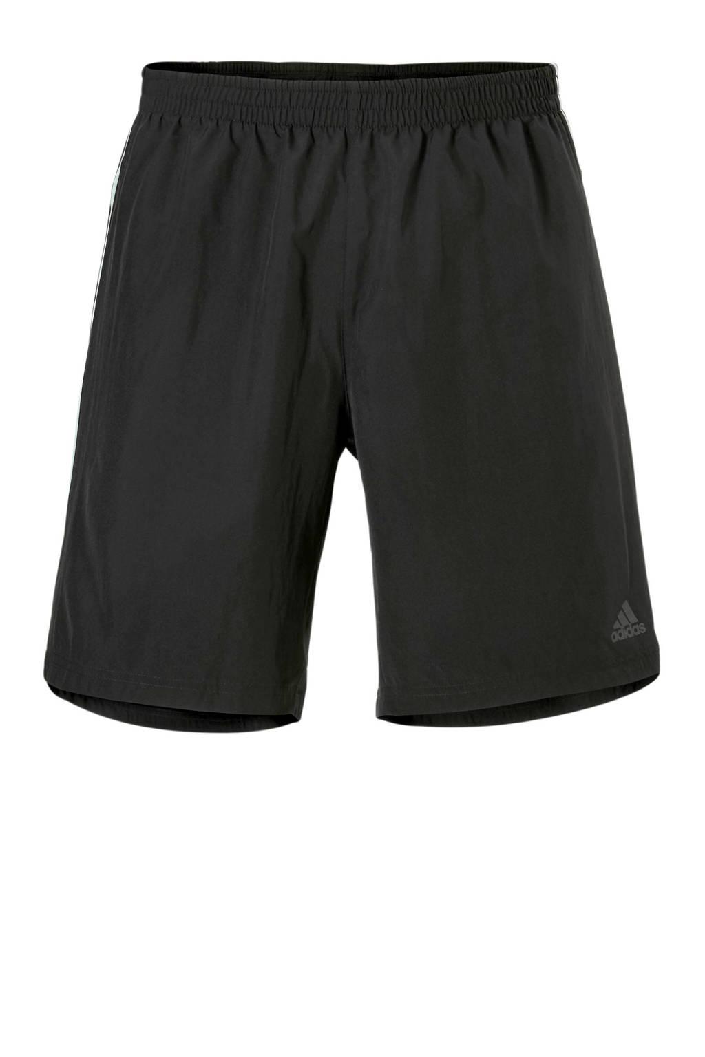 adidas performance   hardloopshort zwart, Zwart