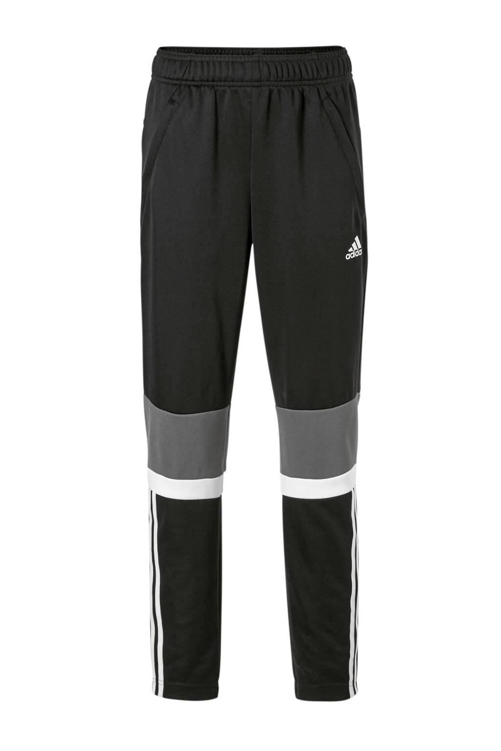 adidas performance   sportbroek zwart, Zwart/wit/grijs