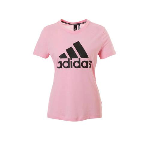 adidas performance sport T-shirt roze