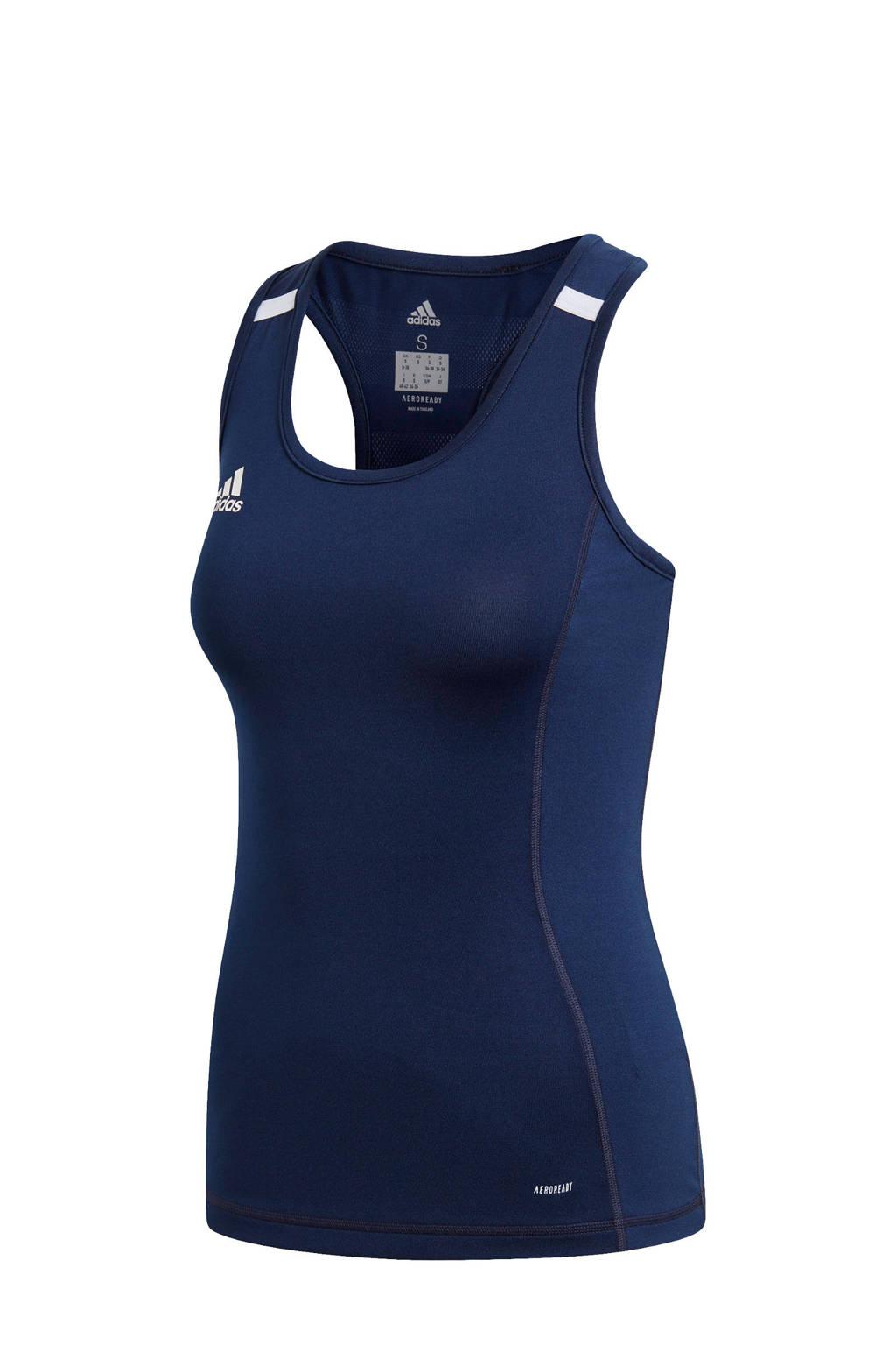 adidas Performance sporttop T19 donkerblauw, Donkerblauw