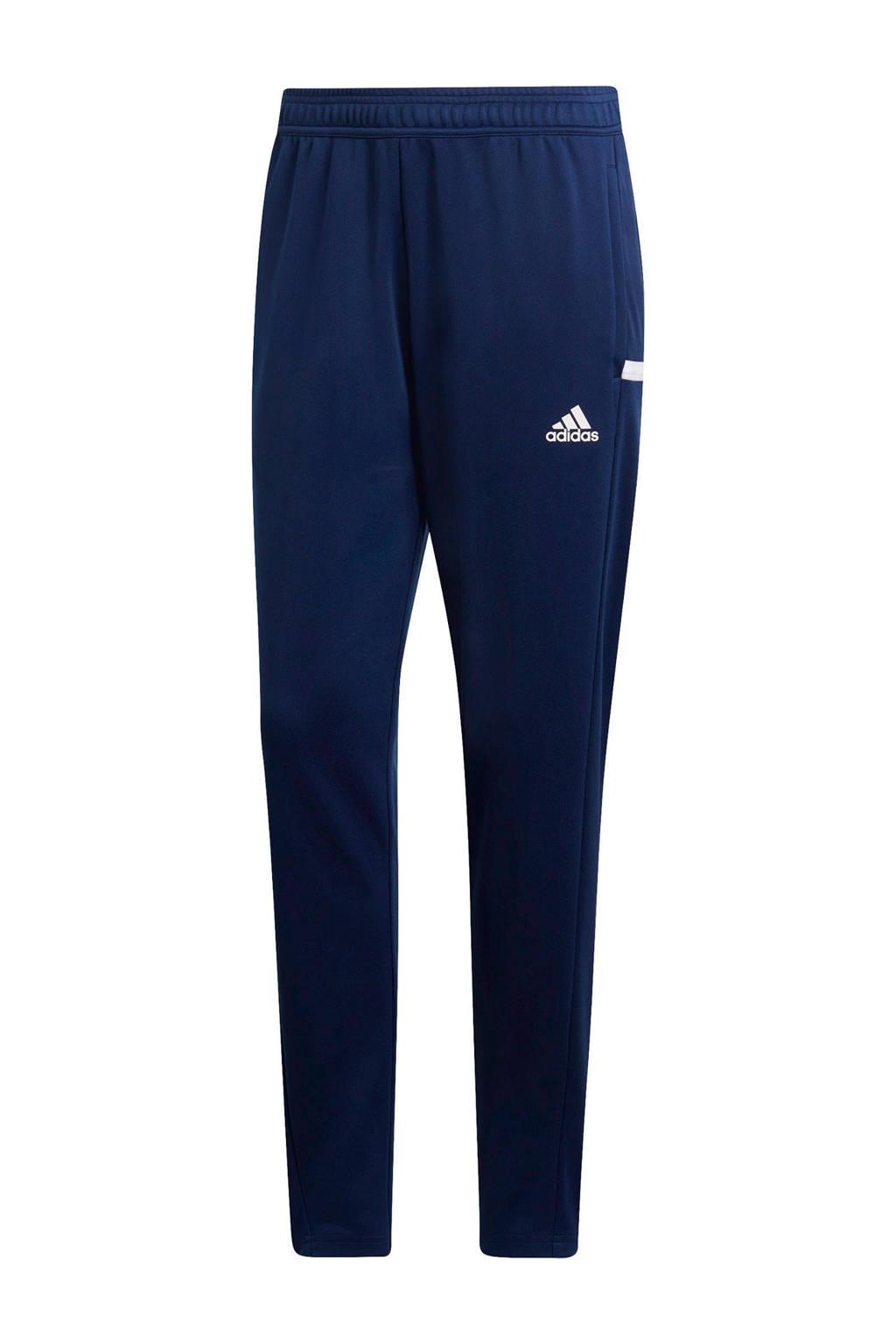 adidas Performance sportbroek T19 donkerblauw, Donkerblauw/wit