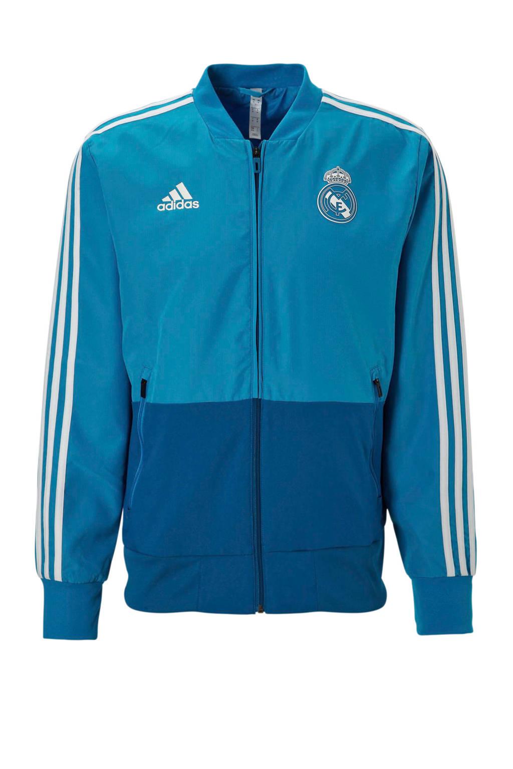 adidas performance  Real Madrid sportvest, Blauw/wit