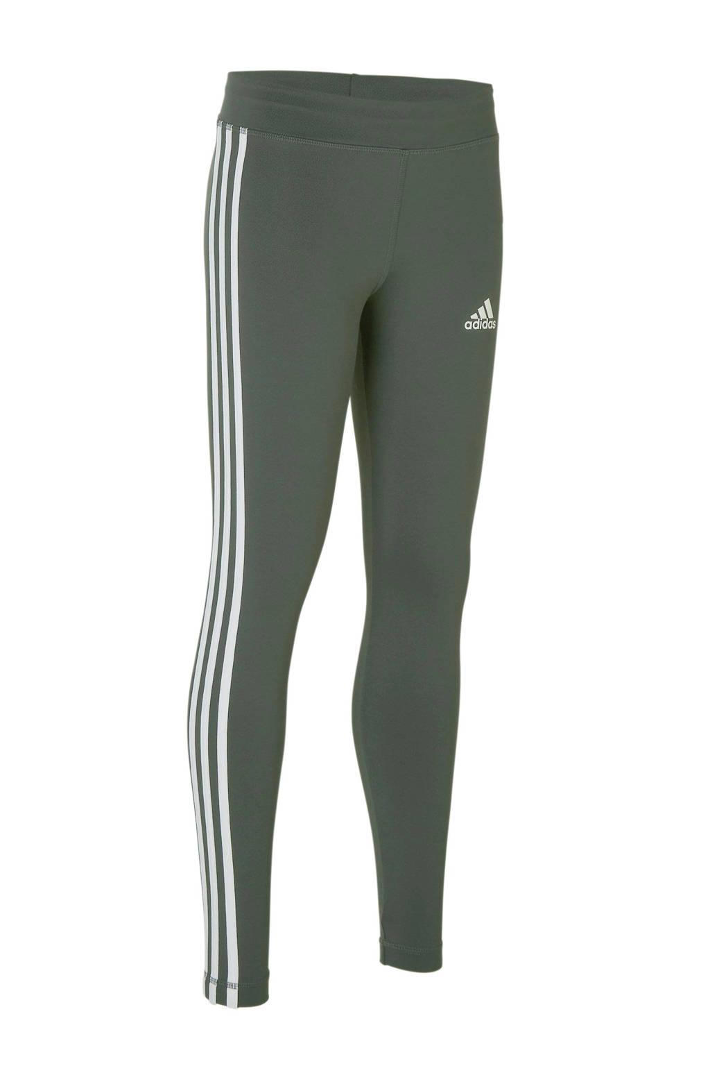adidas performance sportbroek grijs/wit, Grijs/wit