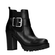 Sacha leren chelsea boots zwart (dames)