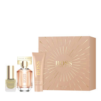 The Scent geschenkset The Scent For Her edp 30ml + bodylotion 100ml + nagellak