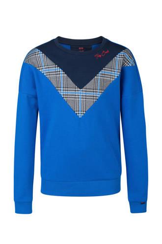 sweater met ruiten blauw